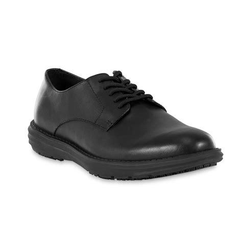 dr scholl s s hiro slip resistant black leather