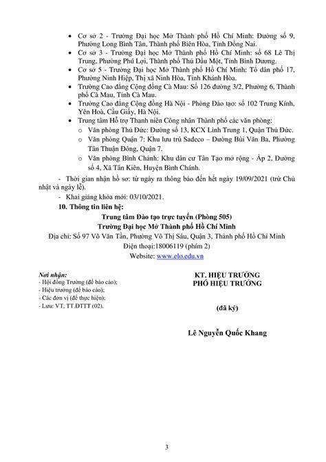 Thông báo tuyển sinh Chương trình đào tạo Cử nhân trực