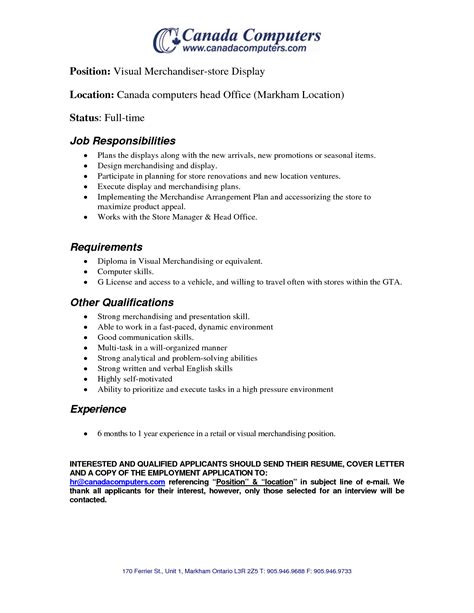 free sle resume for visual merchandiser visual merchandising description 28 images merchandising description fungram co