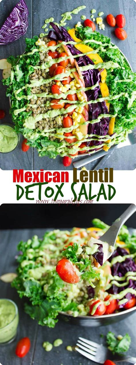Detox Recipes Guacamole by Mexican Style Lentil Detox Salad Recipe Guacamole
