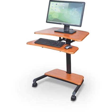Sit And Stand Computer Desk Up Rite Workstation Height Adjustable Sit Stand Desk