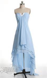 Sky blue high low bridesmaid dress dvw0084 vponsale wedding custom