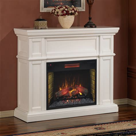 electric fireplace and mantle artesian 28 quot white electric fireplace mantel package ebay
