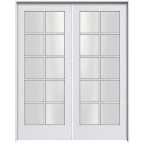 prehung interior french doors home depot jeld wen smooth 10 lite primed pine prehung interior