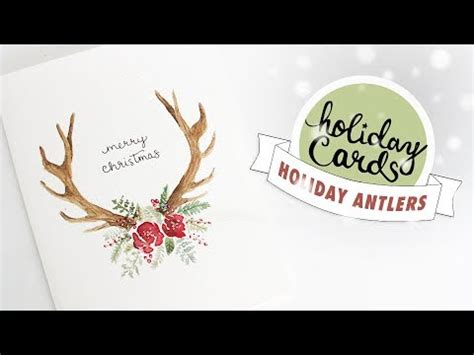 youtube watercolor christmas cards tutorials card 3 floral antlers card watercolor tutorial