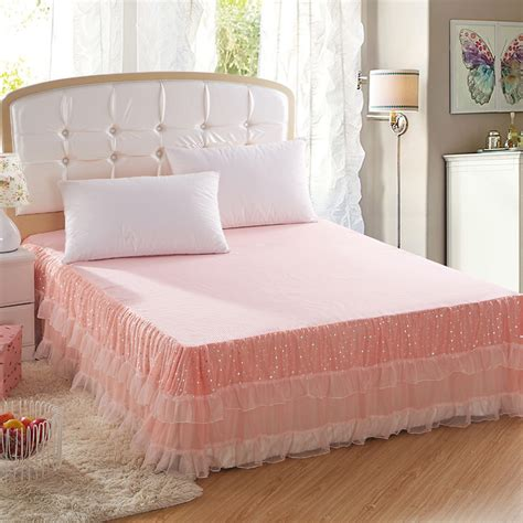 cheap bed skirts online get cheap pink queen bed skirt aliexpress com