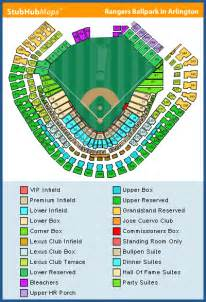 rangers ballpark parking map rangers seating chart tauigess