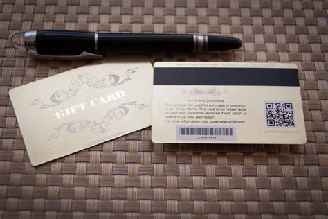 Metal Gift Cards - building customer loyalty thru personalized metal gift cards