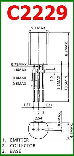 transistor pinout c2229 datasheet vceo 150v 50ma npn transistor toshiba