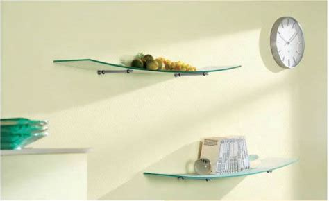 Concepts In Home Design Wall Ledges by Crescent Glass Wall Shelf With Curved Design Amore Designs