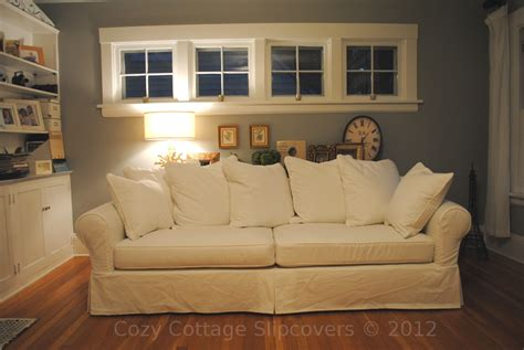 Pillow Back Sofa Slipcovers Cozy Cottage Slipcovers Pillow Back Sofa Slipcover