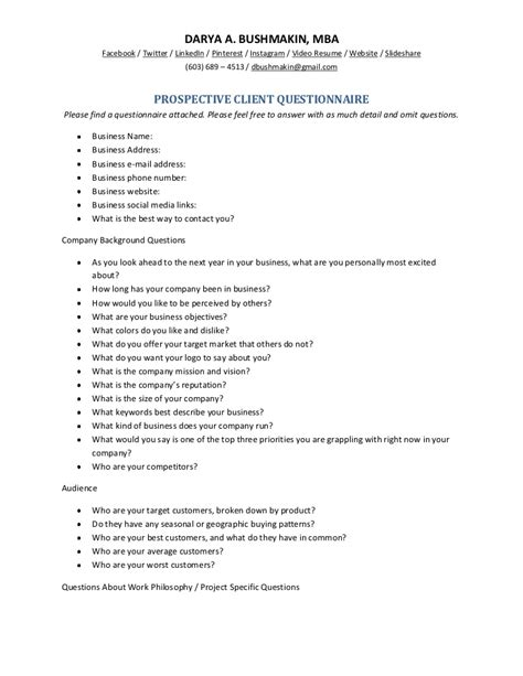 home design questions for clients prospective client questionnaire