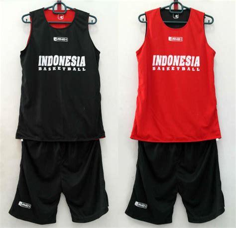 Jersey Bolak Balik 3x3 Hitam Merah jual jersey basket jersey latihan indonesia