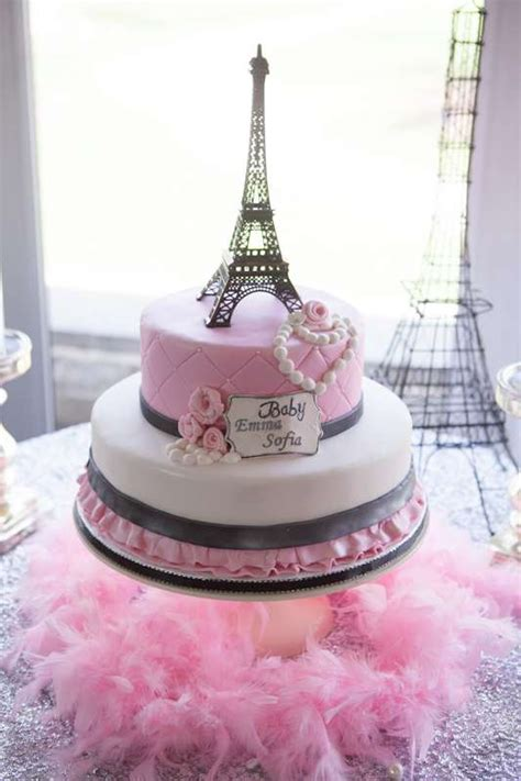 Home Decor France by Pink Paris Cake With Eiffel Tower Decor