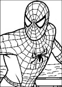 spiderman colouring pa