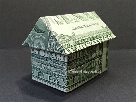Dollar Bill Origami House - 3 d house dollar origami building vincent the artist