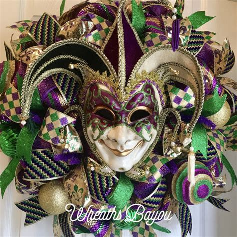 large mardi gras mardi gras wreath tuesday new orleans carnival wreath