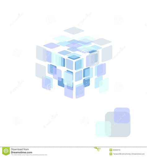 abstract vector background transparent cube stock vector
