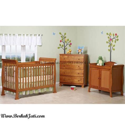 Tempat Tidur Bayi Kayu Jati set tempat tidur bayi minimalis kayu jati berkah jati