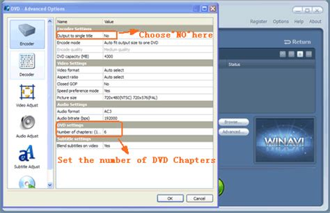 format menu dvd how to create dvd chapter menu with winavi all in one