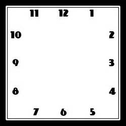 blank clock template blank clock templates clock printable activity