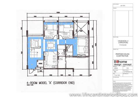 Woodland 4 room HDB renovation by BEhome Design Concept Quotation, perspectives, floor plan
