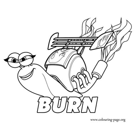 printable turbo coloring page turbo burn coloring page