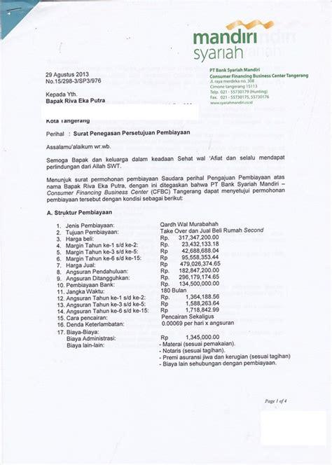 contoh sp3k surat penegasan persetujuan penyediaan kredit btn