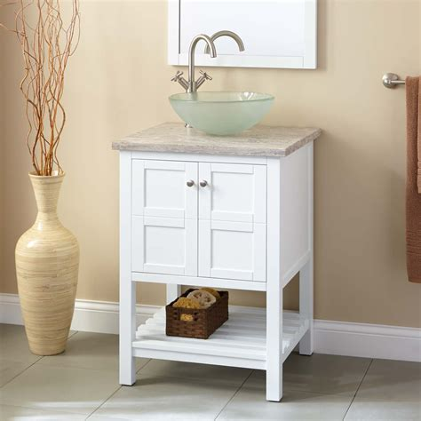 White Sink Vanity 24 quot everett vessel sink vanity white bathroom