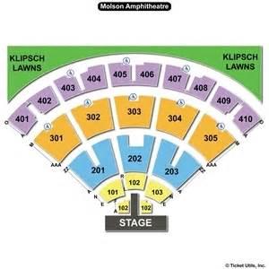 Molson Amphitheatre Floor Plan Budweiser Stage Toronto Seating Charts