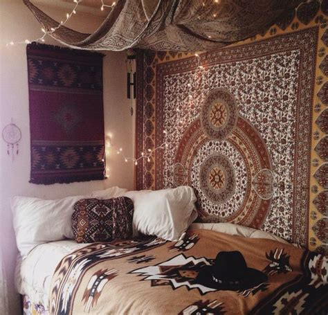 room with tapestry boho bedding my bohemian room