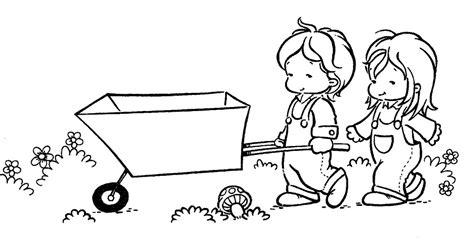 imagenes de niños trabajando matematicas para colorear pinto dibujos ni 241 os con carretilla para colorear
