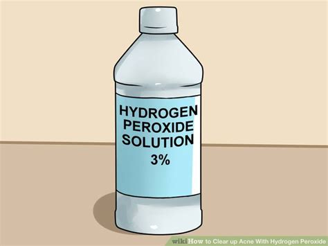 can you use peroxide on a how to clear up acne with hydrogen peroxide