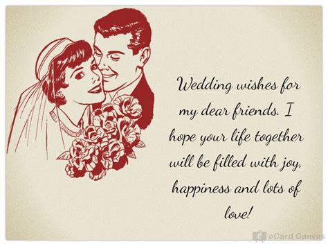 Wedding Wishes Message To Friend by Wedding Wishes For My Dear Friends Ecard Congratulations