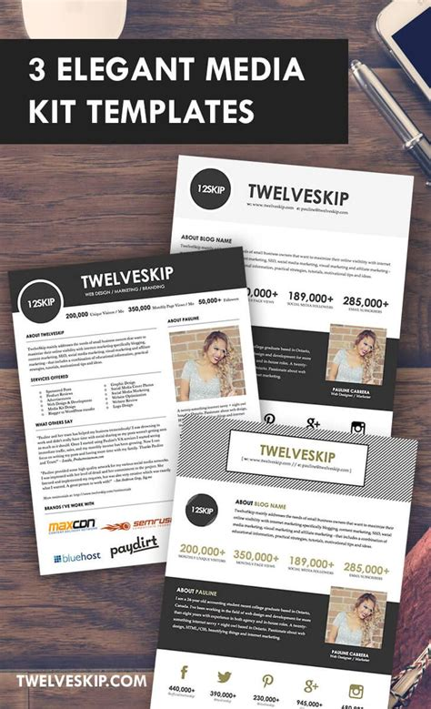32 Best Media Kit Design Exles Images On Pinterest Media Kit Template Press Kits And Blog Tips Free Press Kit Template