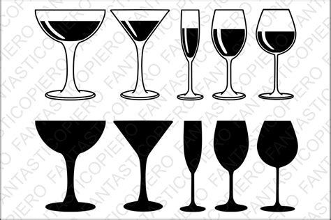 wine glass silhouette white wine glasses svg files for s design bundles