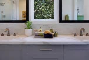 Half tiled bathroom backsplash contemporary bathroom