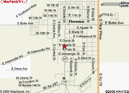 map of florence arizona florence arizona map