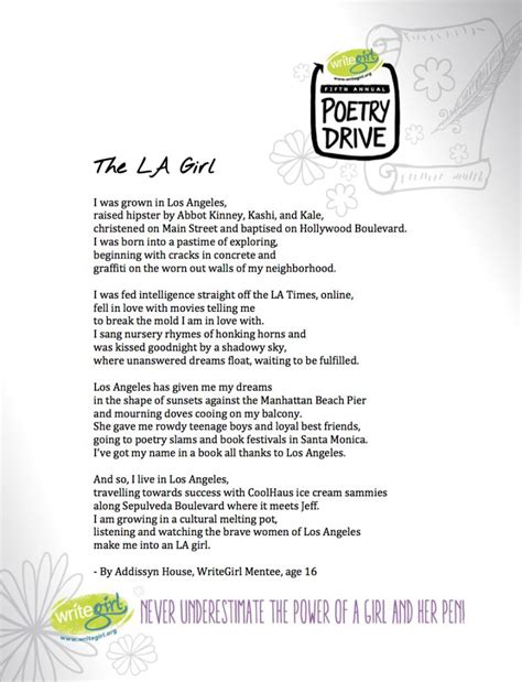 poem for a poem for the la
