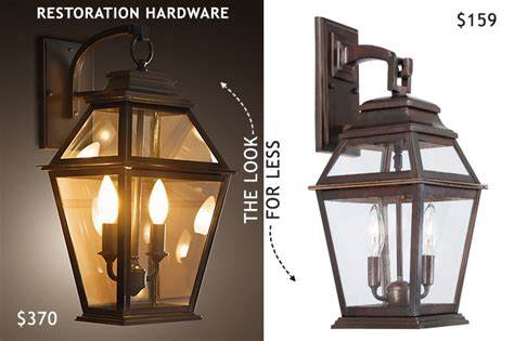 Restoration Hardware Outdoor Lights Restoration Hardware Outdoor Wall Lantern Look For Less Fab Fatale
