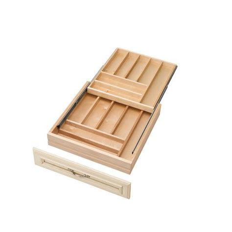 Two Tier Cutlery Tray Drawer Inserts by 2 Tiered Premium Wood Cutlery Drawer 20 1 2w X 21d X 3 3