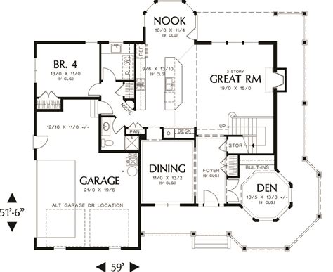 Victorian Style House Plan   4 Beds 3 Baths 2518 Sq/Ft