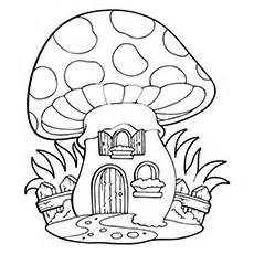 Coloring Book Mushroom House A Fairy sketch template