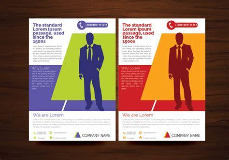 creative flyer design vector creative flyer design vectors in 2 colors download free