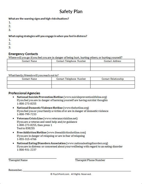 printables domestic violence safety plan worksheet