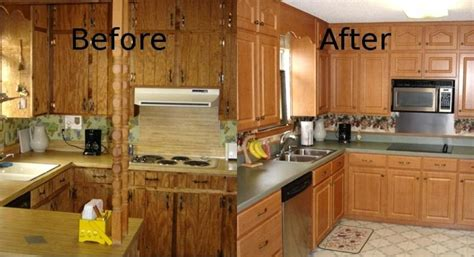 Refaced Kitchen Cabinets Before And After by Refacing Kitchen Cabinets Before And After Cabinet Designs