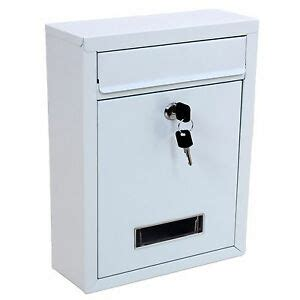 white wall mounted mailbox letter mailbox white lockable wall mounted letter post mail box large