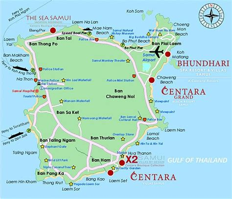 sea resort map the sea samui vacation residence by centara koh samui