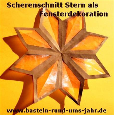 Fensterdekoration Weihnachten Sterne by Scherenschnitt Als Fensterdekoration Basteln Rund