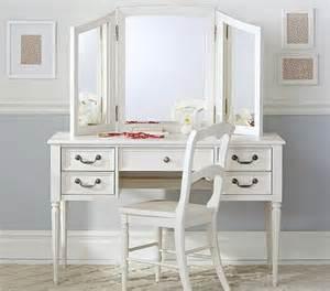 vanity mirror hutch blythe desk and mirror vanity hutch pottery barn
